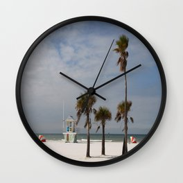 Clearwater Beach In Wintertime Wall Clock
