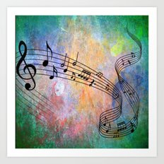 Abstract MUSIC Art Print