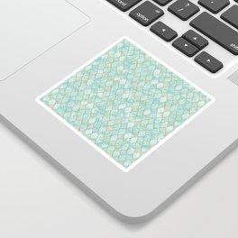 Luxury Aqua and Gold oriental pattern Sticker