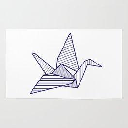 Swan, navy lines Rug