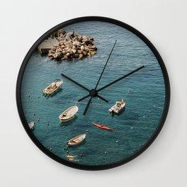 Cinque Terre - A dip in the Mediterranean 2.0 Wall Clock