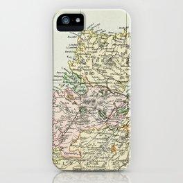 Scotland Vintage Map iPhone Case
