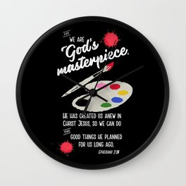We are God's Masterpiece Wall Clock