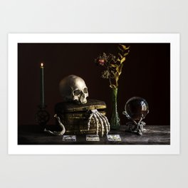 Vanitas, Memento Mori, Macabre Halloween Photo Art Print