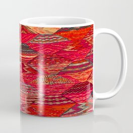 V35 Red Traditional Moroccan Artwork Pattern Coffee Mug
