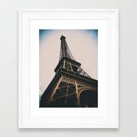 eiffel tower Framed Art Prints featuring Eiffel Tower by Christine Workman
