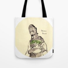 Snoop Dogg about to eat a Bonsai tree Tote Bag