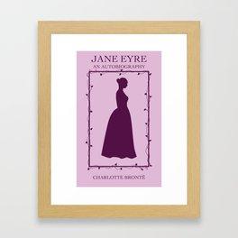 Purple Jane Eyre Book Cover Framed Art Print