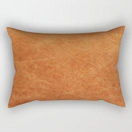 Farmhouse Style Original Camel Leather Oriental Design. Rectangular Pillow