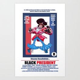 Black President Art Print