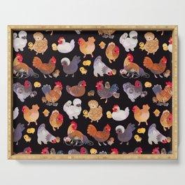Chicken and Chick - dark Serving Tray