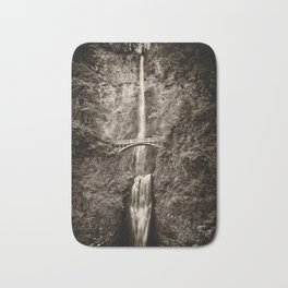 Waterfalls-B&W-Sepia Bath Mat