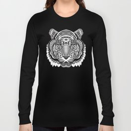 Tiger face aztec pattern Long Sleeve T-shirt