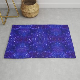 Fractal Galaxy Blues Rug