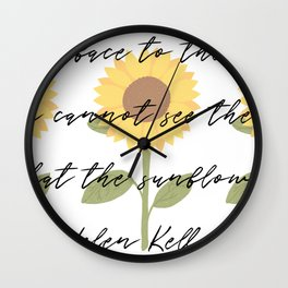 Face to the Sunshine Wall Clock