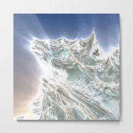 Mega Dragon's Peaks Metal Print