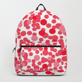 Red and pink spots Backpack