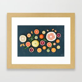 Citrus Flat Lay Framed Art Print