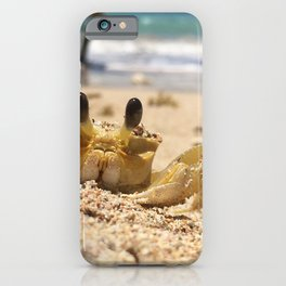 Crab strikes a pose iPhone Case