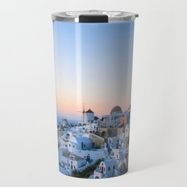 suset in Santorini Travel Mug