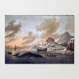 Dutch Whalers Near Spitsbergen Abraham Storck Canvas Print