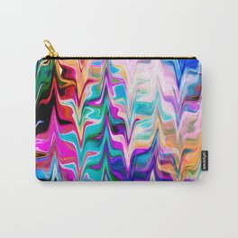 Abstract colorful marble swirls pattern Carry-All Pouch