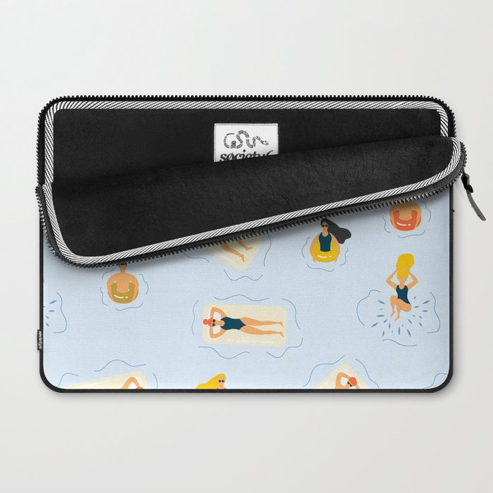 Abstract Summer Fun Bathing Time Pattern Laptop Sleeve