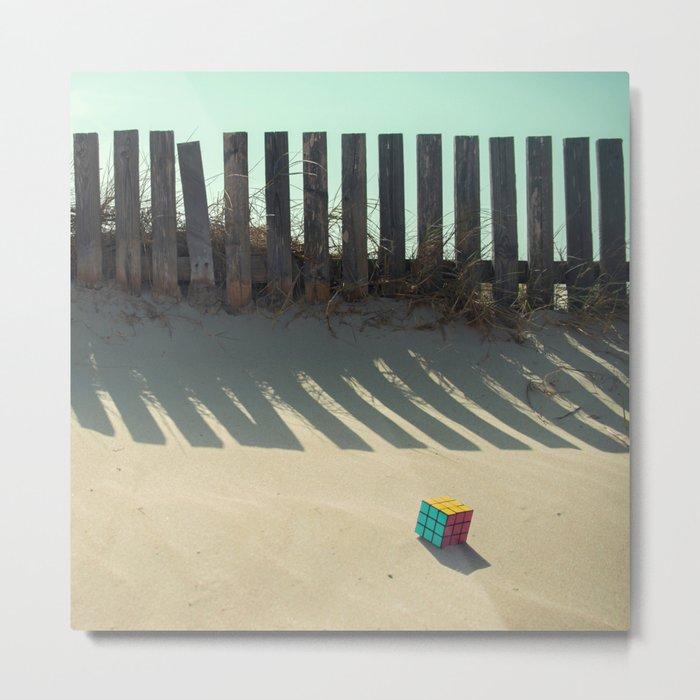 Rubik shading in the beach Metal Print