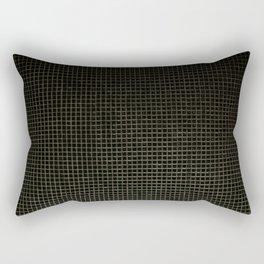 Black & Gold Tiles Rectangular Pillow