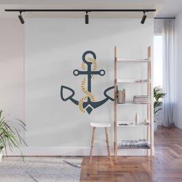 Anchor Ahoi Sailorboat marina Wall Mural