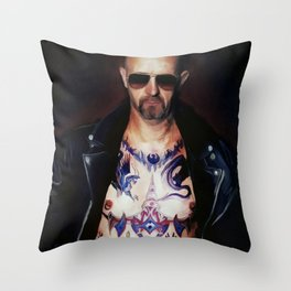 Rob Halford Throw Pillow