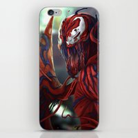 carnage iPhone & iPod Skins featuring Carnage by corverez