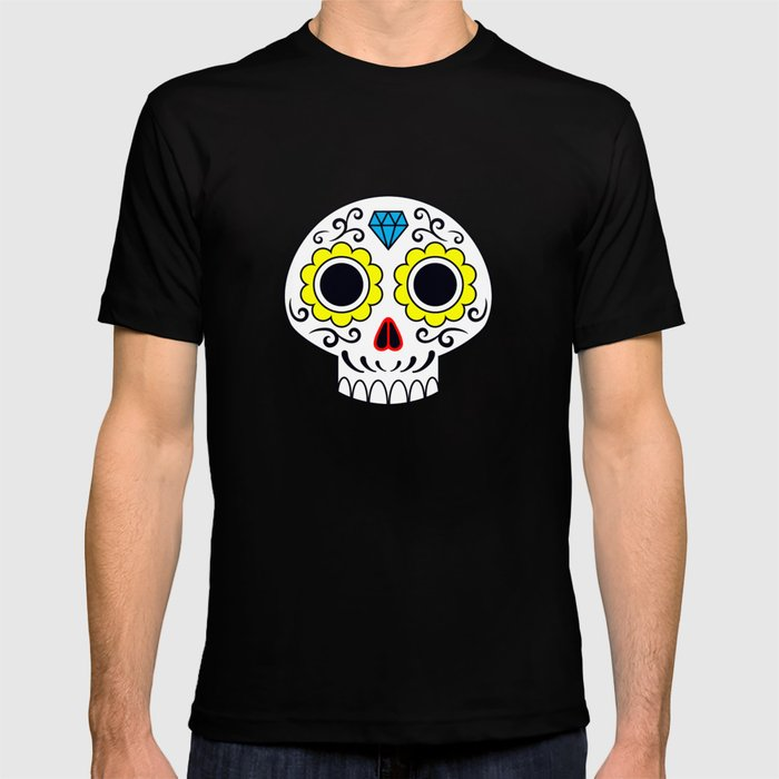 Sugar skull for a cake T-shirt