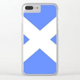 flag of scotland 5– scotland,scot,scottish,Glasgow,Edinburgh,Aberdeen,dundee,uk,cletic,celts,Gaelic Clear iPhone Case