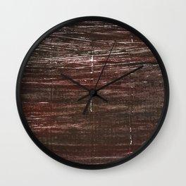 Dark brown watercolor Wall Clock