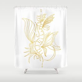 (SH)elixir blanc Shower Curtain