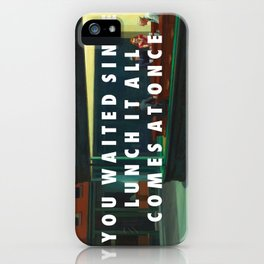 White Nighthawks iPhone Case