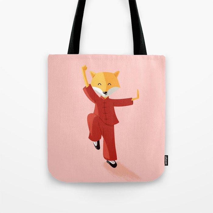 Mr. Fox knows Kung fu Tote Bag