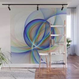 Colorful Design, Modern Fractal Art Wall Mural