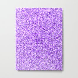 Spacey Melange - White and Violet Metal Print
