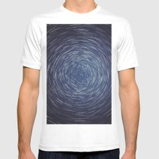 Center of the Axis White MEDIUM Mens Fitted Tee