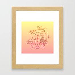 Dog Club Framed Art Print