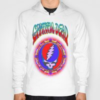 grateful dead Hoodies featuring Grateful Dead #10 Optical Illusion Psychedelic Design by CAP Artwork & Design
