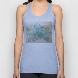 Ocean Hue Sea Glass Unisex Tank Top