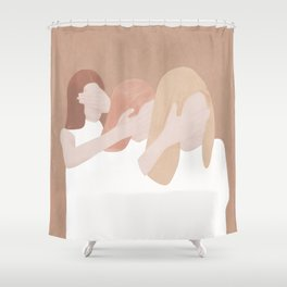 Eyes Closed Shower Curtain