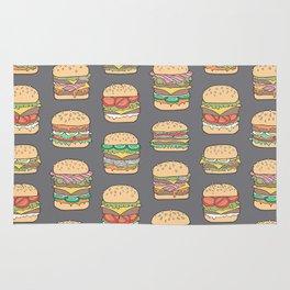 Hamburgers Junk Food Fast food on Dark Grey Rug