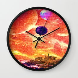 Distant worlds Wall Clock