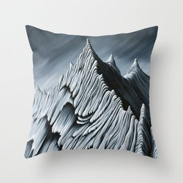 'Strange Peaks and Ridges' Throw Pillow