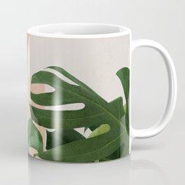 Abstract shapes art, Tropical leaves, Plant, Mid century modern art Coffee Mug