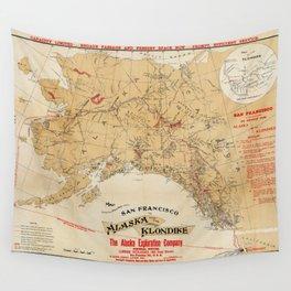 Map of Alaska 1898 Wall Tapestry